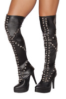 Spike Studded Leg Warmers