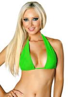 Plunge Halter Bikini Top