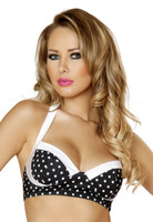 Polka Dot Pin-Up Halter Top