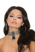 Leather and Chain Choker