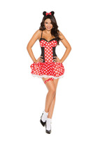 Red Miss Mouse Costume