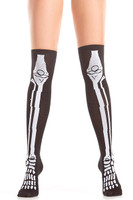 Skeleton Thigh Highs
