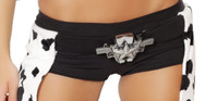 Double Gun Belt Buckle with Star Detail