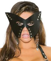 Leather Mask with Nail Heads