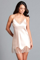 Satin and Chantilly Lace Slip