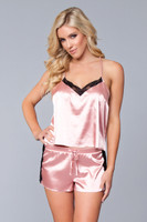 Satin and Lace Cami and Shorts Set