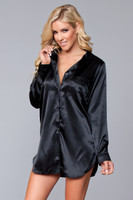 Long Sleeve Satin Night Shirt