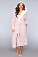 Plush Fleece Hooded Long Robe