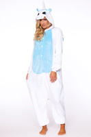 White/Blue Unicorn Onesie