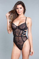 Floral Lace Underwired Strappy Teddy