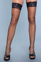 Fishnet Thick Lace Top Thigh Highs