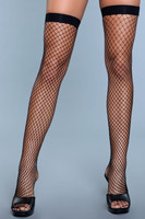 Fishnet Wide Band Thigh Highs