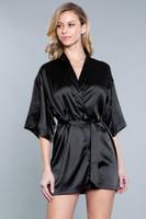 Short Sleeve Satin Robe