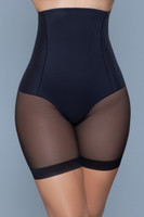Boned High Waist Mesh Thigh Shaper Shorts