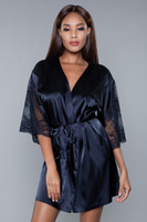 Satin and Lace Short Robe