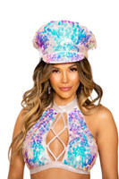 Iridescent Teardrop Sequin Hat