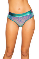 Sequin and Shimmer Thong Shorts