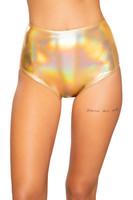 Shiny Metallic High Waisted Shorts