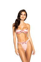 Satin Bows Strapless Bra and Thong Set