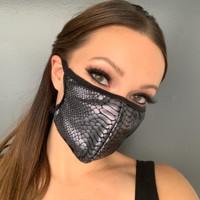 Snakeskin Print Face Mask