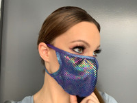 Metallic Iridescent Face Mask
