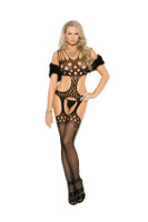 Crochet Circle Net Suspender Bodystocking