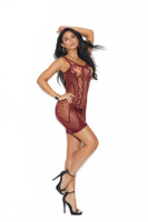 Crochet Circle Net Mini Dress