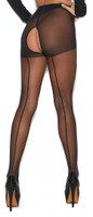 Crotchless Back Seam Pantyhose