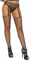Fence Net Garter Belt and Thigh Highs