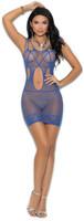 Strappy Cutout Fishnet Mini Dress