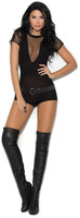 Opaque and Fishnet Romper