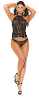 Crochet Lace Cami and Panty Set