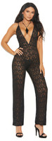 Plunging Lace Jumpsuit