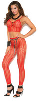 Feather Net Cami and Leggings Set