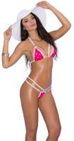 Polka Dot Strappy G-String Bikini