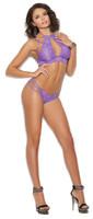 Lace Cutout Bralette and Strappy Brazilian Panty