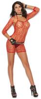 Shredded Net Mini Dress And Shrug