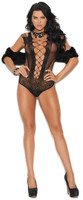Crochet Lace Up Crotchless Teddy