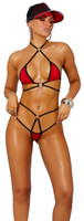 Skimpy Halter Strappy O-Ring Thong Bikini