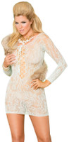 Long Sleeve Lace Mini Dress