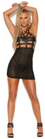 Leather and Fishnet Babydoll and G-String