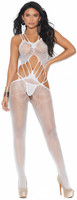 Crochet Crotchless Suspender Bodystocking