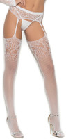 Sheer Crochet Net Suspender Pantyhose