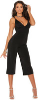 Low Cut Lycra Capri Jumpsuit