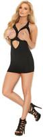 Cupless Lycra Keyhole Mini Dress
