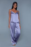 Satin Tank Top and Pants Pajama Set