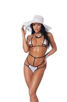 Strappy Cutout Polka Dot High Waist Bikini