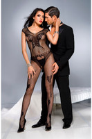 Butterfly Fishnet Short Sleeve Bodystocking
