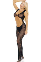 Cutout Spiderweb Crotchless Bodystocking