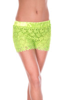 Neon Lace Shorts